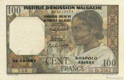 100 Francs - 20 Ariary MADAGASCAR  1961 K.836b SPL
