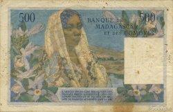 500 Francs - 100 Ariary MADAGASCAR  1961 P.53 pr.TB