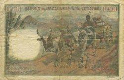1000 Francs - 500 Ariary MADAGASCAR  1961 P.54 TB+