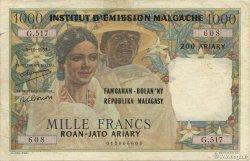 1000 Francs - 500 Ariary MADAGASCAR  1961 P.54 TTB