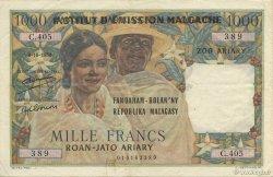 1000 Francs - 500 Ariary MADAGASCAR  1961 K.839b pr.SUP