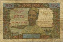 50 Francs - 10 Ariary MADAGASCAR  1962 K.843 B+