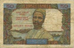 50 Francs - 10 Ariary MADAGASCAR  1962 P.61 TTB