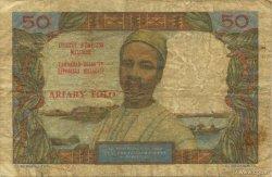 50 Francs - 10 Ariary MADAGASCAR  1962 P.61 TB