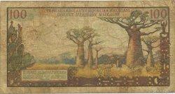 100 Francs - 20 Ariary MADAGASCAR  1964 K.845b B