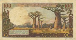 100 Francs - 20 Ariary MADAGASCAR  1964 P.57a TTB