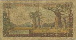 100 Francs - 20 Ariary MADAGASCAR  1964 K.846b B