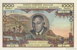 1000 Francs - 200 Ariary MADAGASCAR  1960 K.849b SPL