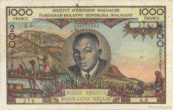 1000 Francs - 200 Ariary MADAGASCAR  1960 K.849b TTB