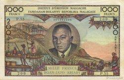 1000 Francs - 200 Ariary MADAGASCAR  1960 K.850 SUP