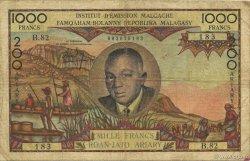 1000 Francs - 200 Ariary MADAGASCAR  1960 P.56b pr.TB