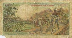 1000 Francs - 200 Ariary MADAGASCAR  1966 P.59a B