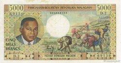 5000 Francs - 1000 Ariary MADAGASCAR  1966 K.852b TTB
