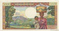 5000 Francs - 1000 Ariary MADAGASCAR  1966 P.60a SUP à SPL