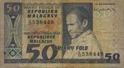 50 Francs - 10 Ariary MADAGASCAR  1974 P.62a TB
