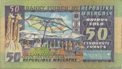 50 Francs - 10 Ariary MADAGASCAR  1974 P.62a TTB+