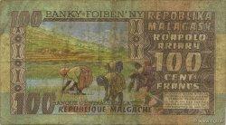 100 Francs - 20 Ariary MADAGASCAR  1974 P.63a TB