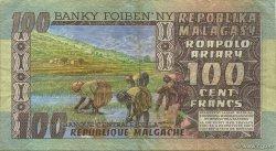 100 Francs - 20 Ariary MADAGASCAR  1974 P.63a TTB