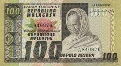 100 Francs - 20 Ariary MADAGASCAR  1974 P.63a SPL