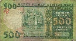 500 Francs - 100 Ariary MADAGASCAR  1974 P.64a B
