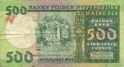 500 Francs - 100 Ariary MADAGASCAR  1974 P.64a TTB