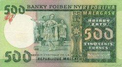 500 Francs - 100 Ariary MADAGASCAR  1974 P.64a SUP