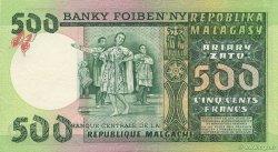 500 Francs - 100 Ariary MADAGASCAR  1974 P.64a SPL