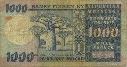1000 Francs - 200 Ariary MADAGASCAR  1974 P.65a B