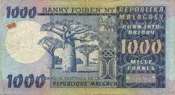 1000 Francs - 200 Ariary MADAGASCAR  1974 P.65a TTB