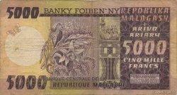 5000 Francs - 1000 Ariary MADAGASCAR  1974 P.66a TB
