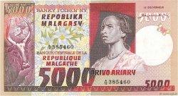 5000 Francs - 1000 Ariary MADAGASCAR  1974 P.66a SUP