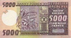 5000 Francs - 1000 Ariary MADAGASCAR  1974 P.66a SPL+
