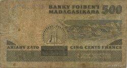 500 Francs - 100 Ariary MADAGASCAR  1983 P.67 B