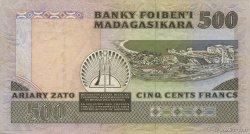500 Francs - 100 Ariary MADAGASCAR  1988 P.71a SUP