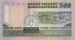 500 Francs - 100 Ariary MADAGASCAR  1988 P.71a NEUF