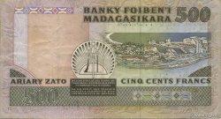 500 Francs - 100 Ariary MADAGASCAR  1988 P.71b TTB