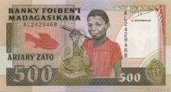 500 Francs - 100 Ariary MADAGASCAR  1988 P.71b SPL