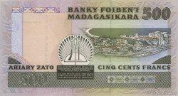 500 Francs - 100 Ariary MADAGASCAR  1988 P.71b pr.NEUF
