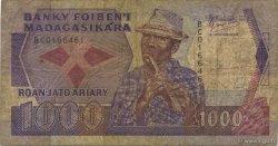 1000 Francs - 200 Ariary MADAGASCAR  1988 P.72a B