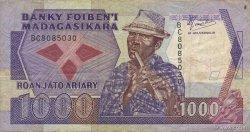 1000 Francs - 200 Ariary MADAGASCAR  1988 P.72a TB