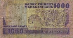 1000 Francs - 200 Ariary MADAGASCAR  1988 P.72b B