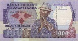 1000 Francs - 200 Ariary MADAGASCAR  1988 P.72b TTB