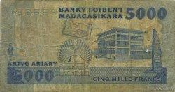 5000 Francs - 1000 Ariary MADAGASCAR  1988 P.73a pr.B