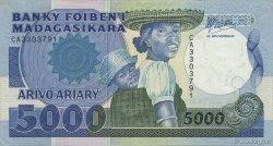 5000 Francs - 1000 Ariary MADAGASCAR  1988 P.73a SPL