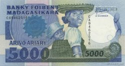 5000 Francs - 1000 Ariary MADAGASCAR  1988 P.73a pr.NEUF