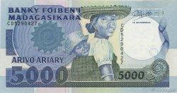 5000 Francs - 1000 Ariary MADAGASCAR  1988 P.73b SPL