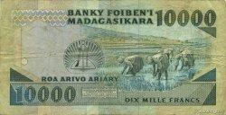 10000 Francs - 2000 Ariary MADAGASCAR  1988 P.74b pr.TB