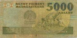 25000 Francs - 5000 Ariary MADAGASCAR  1988 P.74Aa AB
