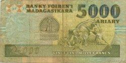 25000 Francs - 5000 Ariary MADAGASCAR  1988 P.74Aa B+