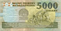 25000 Francs - 5000 Ariary MADAGASCAR  1988 P.74Aa TTB